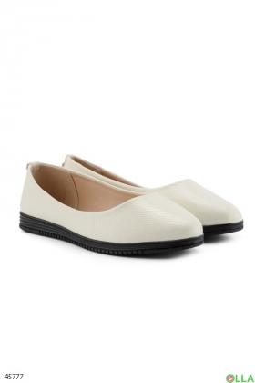 Женские белые балетки - 00-00189393