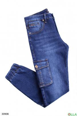 Мужские джинсы с манжетами на резинке
