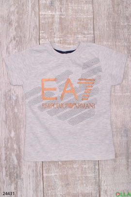 Серая футболка с надписью