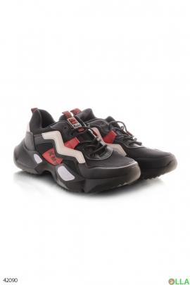 Мужские  кроссовки со вставками