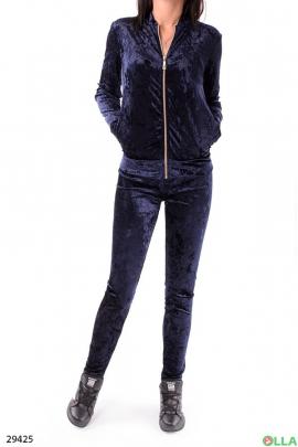 Женский костюм синего цвета
