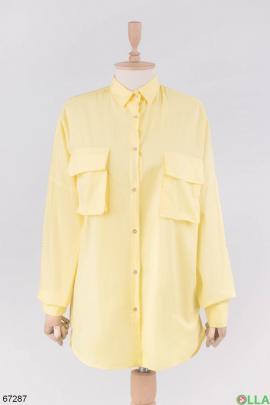 Женская желтая рубашка