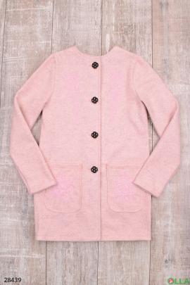Пальто розового цвета для девочки