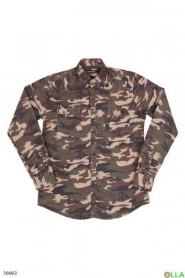 Мужская камуфляжная рубашка