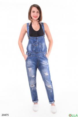 Женский джинсовый комбинезон