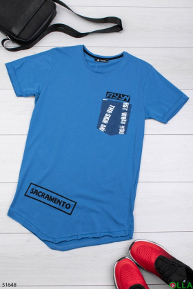 Мужская футболка синего цвета