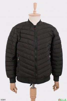 Мужская куртка цвета хаки без капюшона