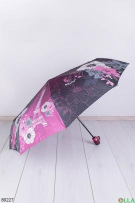 Женский розовый зонт