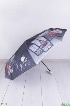Женский серый зонт