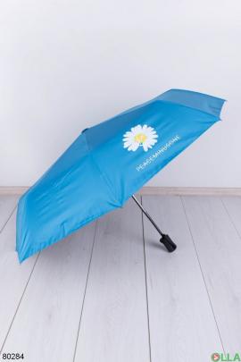 Женский голубой зонт