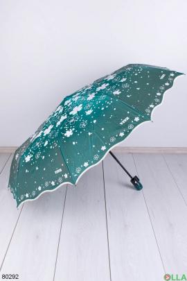 Женский зеленый зонт