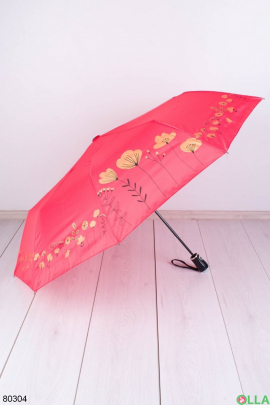 Женский коралловый зонт