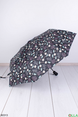 Женский черный зонт