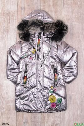 Куртка с капюшоном для девочки