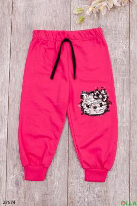Спортивные штаны с декором из пайеток