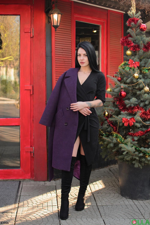 Платье черного цвета с люрексом