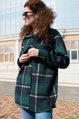 Женская рубашка в клетку на пуговицах