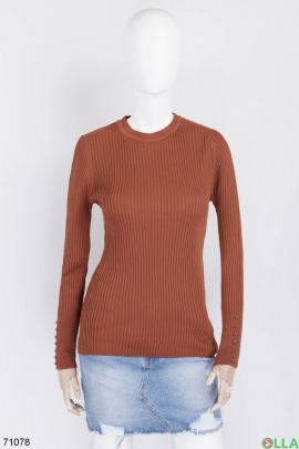 Женский коричневый свитер