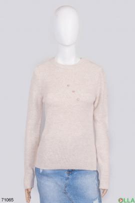 Женский бежевый свитер