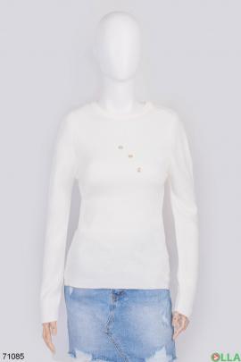 Женский белый свитер