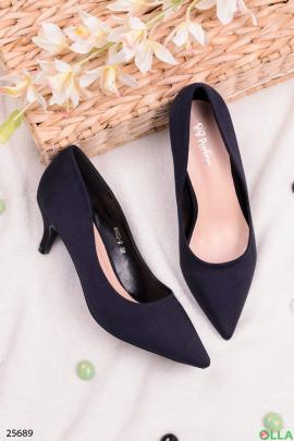 Синие туфли с острым носом