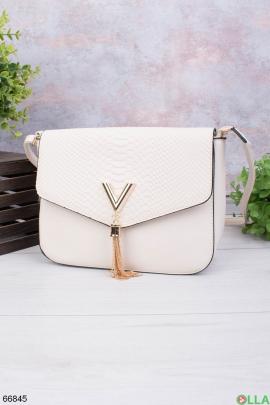 Женская светло-бежевая сумка