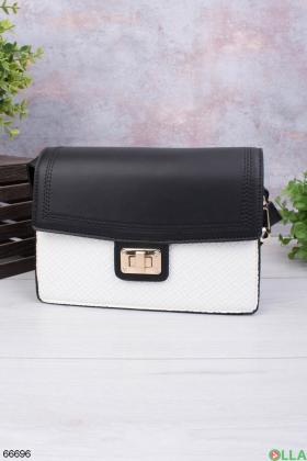 Женская черно-белая сумка