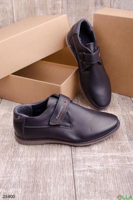Темно-синие туфли на липучке