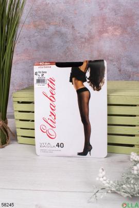 Женские черные колготы 40 Den