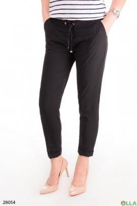 Женские брюки с поясом на резинке