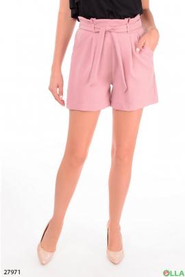 Розовые шорты с поясом