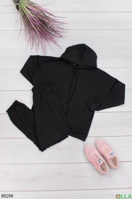 Женский спортивный черный костюм