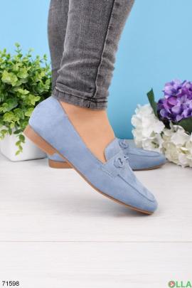 Женские голубые туфли