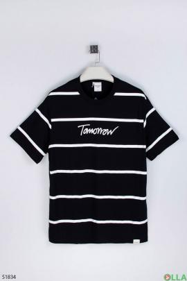 Мужская чёрная футболка