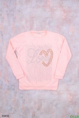 Розовый свитшот с рисунком