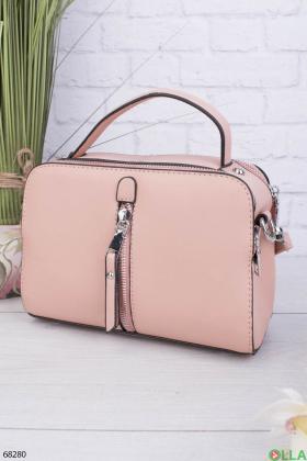 Женская светло-розовая сумка