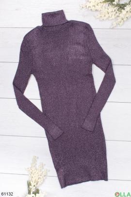 Женское трикотажное платье-миди