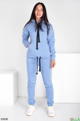 Женский синий спортивный костюм на флисе