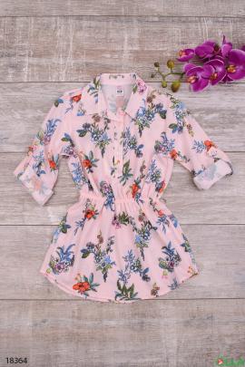 Удлиненная блузка на резинке
