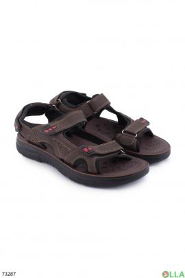 Мужские темно-коричневые сандалии