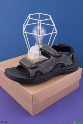 Мужские серые сандалии