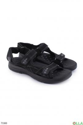 Мужские черные сандалии