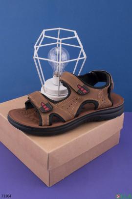 Мужские коричневые сандалии