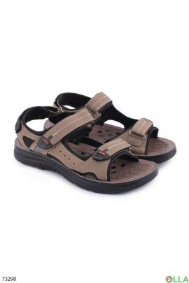 Мужские бежевые сандалии