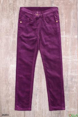 Фиолетовые джинсы для девочки
