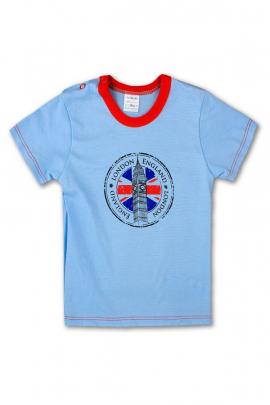 Футболка голубая для мальчика