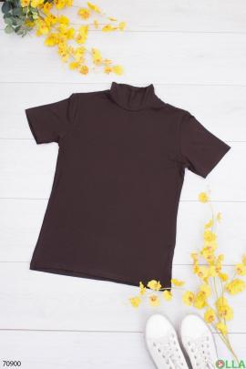 Женская коричневая футболка