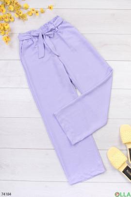 Женские лиловые брюки