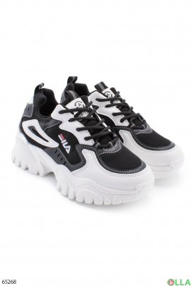 Женские черно-белые кроссовки