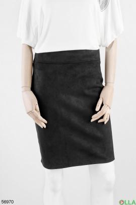 Женская юбка из замши